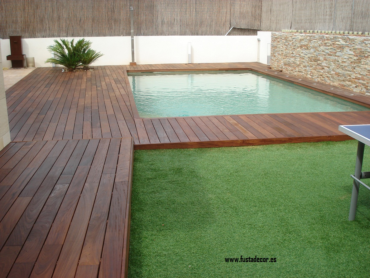 Madera para piscinas perfect madera para piscinas with for Piscinas de madera